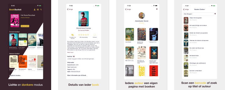 BookBucket screenshots
